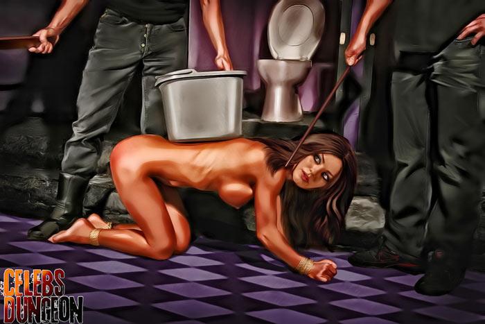 Mila Kunis to a punishment - Celebs Dungeon Fantasy Mila Kunis BDSM